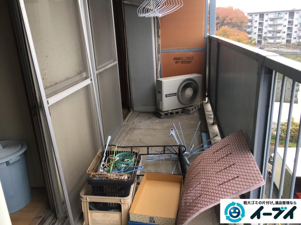 2017年2月11日大阪府泉北郡忠岡町でベランダの廃品や粗大ゴミの不用品回収をしました。写真3
