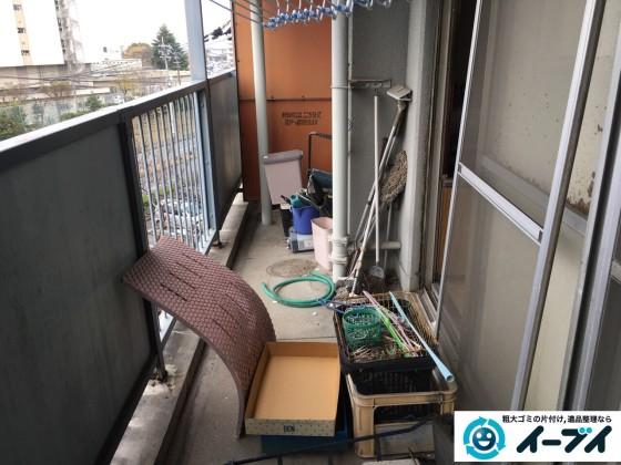 2017年2月11日大阪府泉北郡忠岡町でベランダの廃品や粗大ゴミの不用品回収をしました。写真2