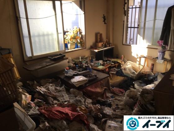 2017年2月18日大阪府摂津市で汚部屋状態になっているゴミ屋敷の片付けをしました。写真10