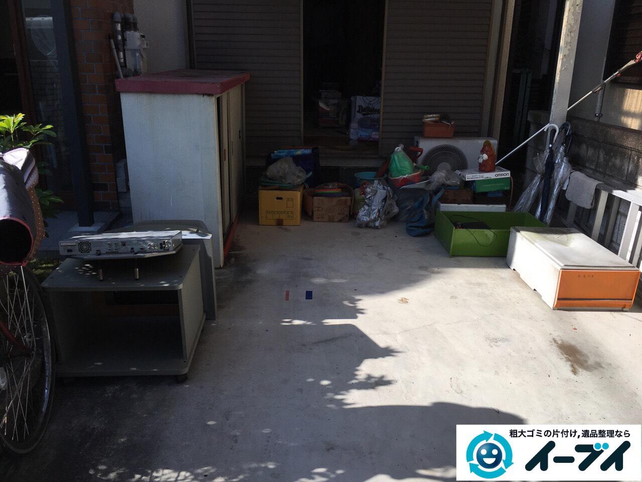 2017年3月1日大阪府堺市堺区でガレージの物置や廃品の粗大ゴミを処分しました。写真1