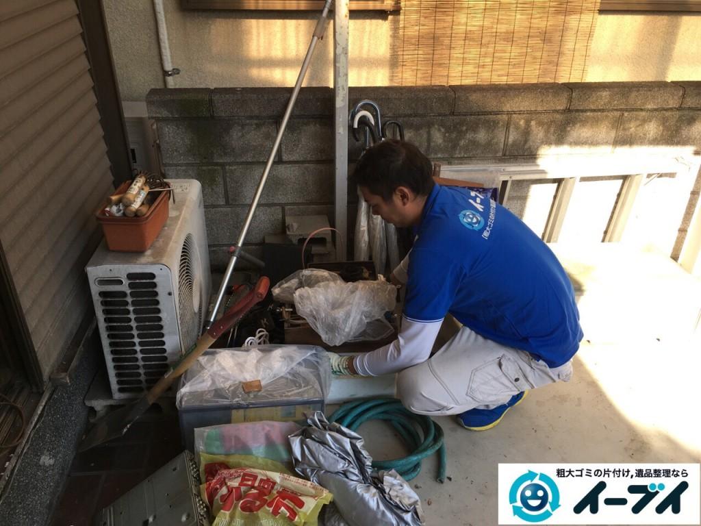 2017年3月1日大阪府堺市堺区でガレージの物置や廃品の粗大ゴミを処分しました。写真4