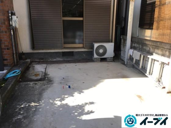 2017年3月1日大阪府堺市堺区でガレージの物置や廃品の粗大ゴミを処分しました。写真3