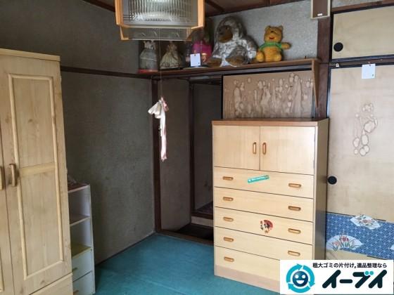 2017年2月23日大阪府堺市北区で遺品整理に伴う生活ゴミや家具処分をイーブイにご依頼いただけました。写真4