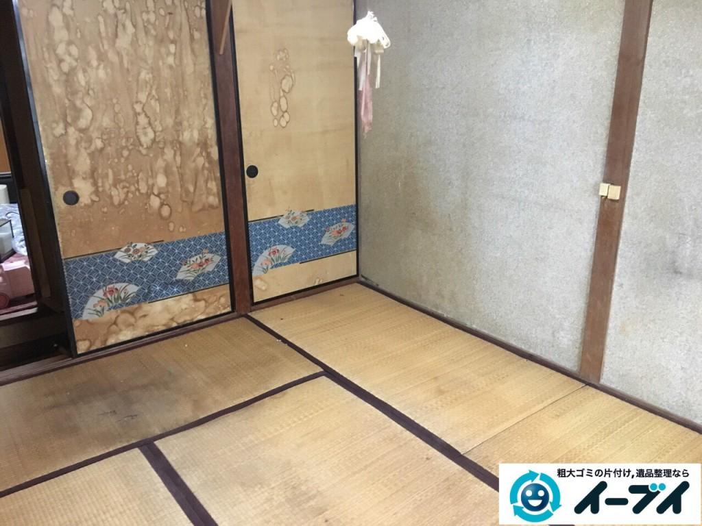 2017年2月23日大阪府堺市北区で遺品整理に伴う生活ゴミや家具処分をイーブイにご依頼いただけました。写真3