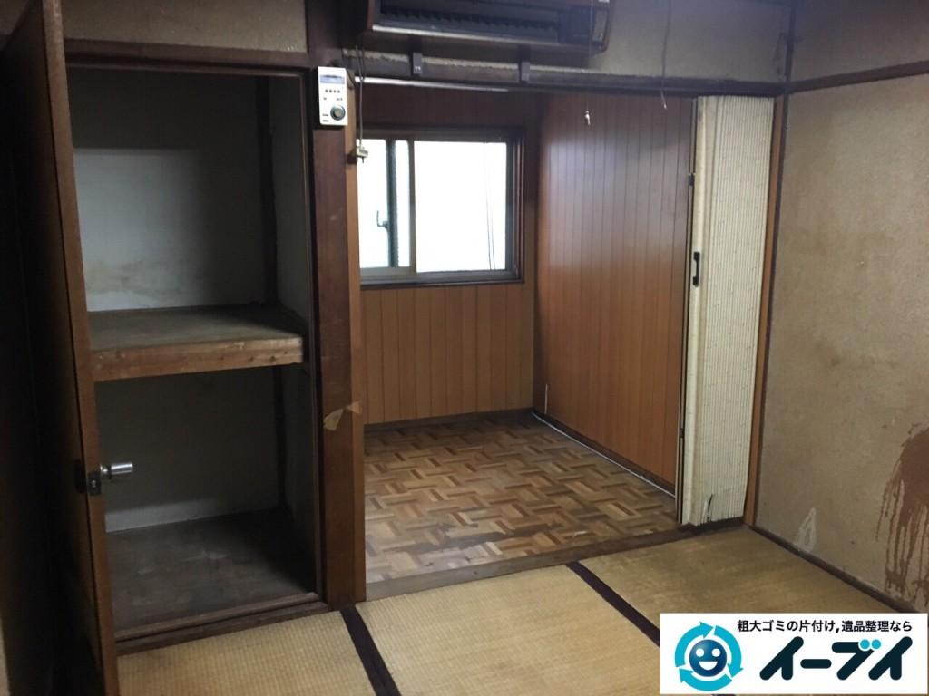 2017年1月2日大阪府富田林市で遺品整理に伴い布団や粗大ゴミと家具処分の回収をしました。写真6