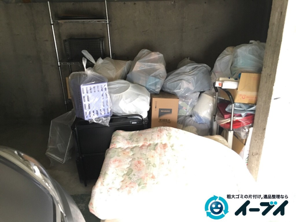 2017年2月17日大阪府藤井寺市でガレージの廃品や生活ゴミや粗大ゴミの処分をしました。写真5