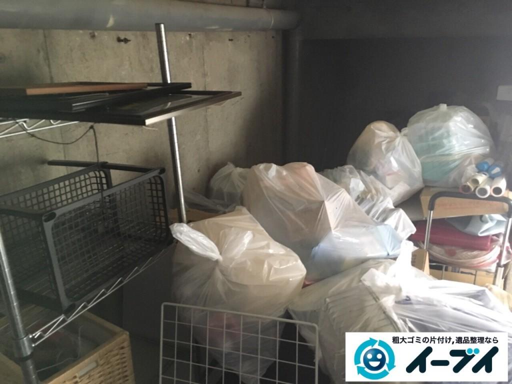 2017年2月17日大阪府藤井寺市でガレージの廃品や生活ゴミや粗大ゴミの処分をしました。写真3