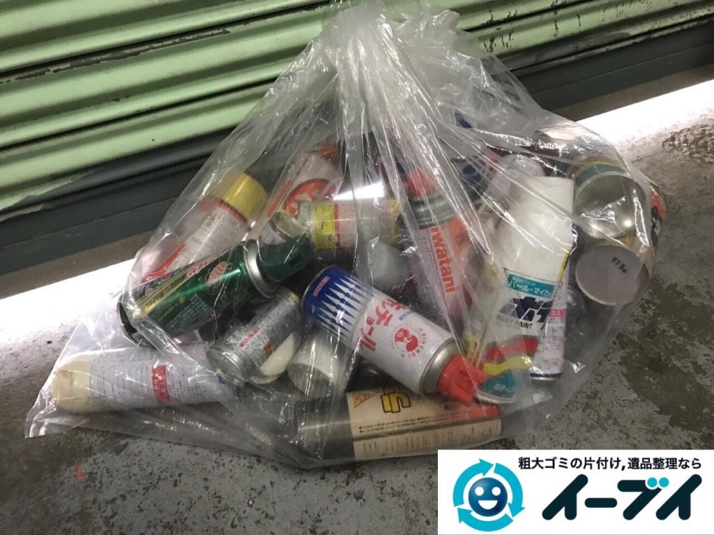 2017年2月17日大阪府藤井寺市でガレージの廃品や生活ゴミや粗大ゴミの処分をしました。写真2
