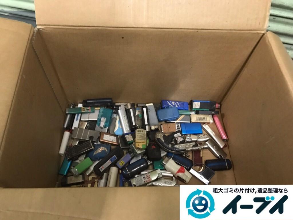 2017年2月17日大阪府藤井寺市でガレージの廃品や生活ゴミや粗大ゴミの処分をしました。写真1