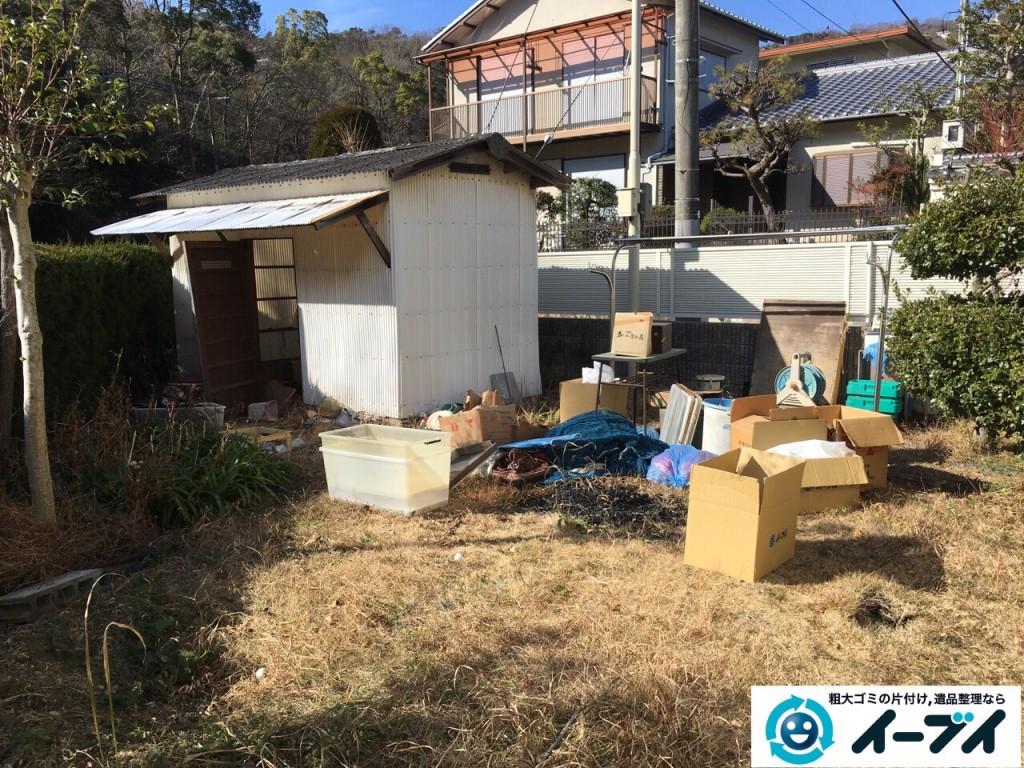 2017年2月19日大阪府松原市で庭の物置や廃品などの粗大ゴミの処分をしました。写真7