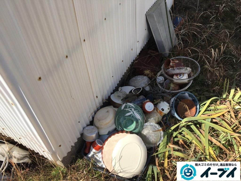 2017年2月19日大阪府松原市で庭の物置や廃品などの粗大ゴミの処分をしました。写真5