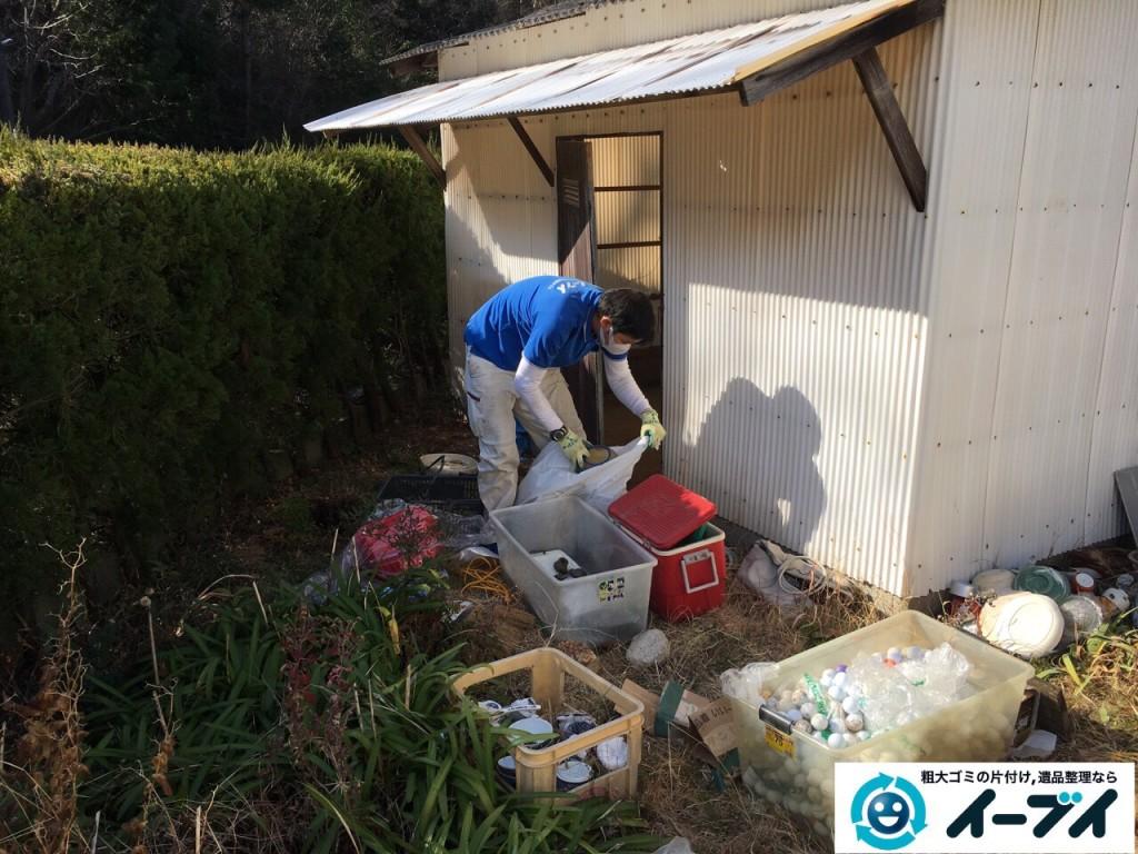 2017年2月19日大阪府松原市で庭の物置や廃品などの粗大ゴミの処分をしました。写真3