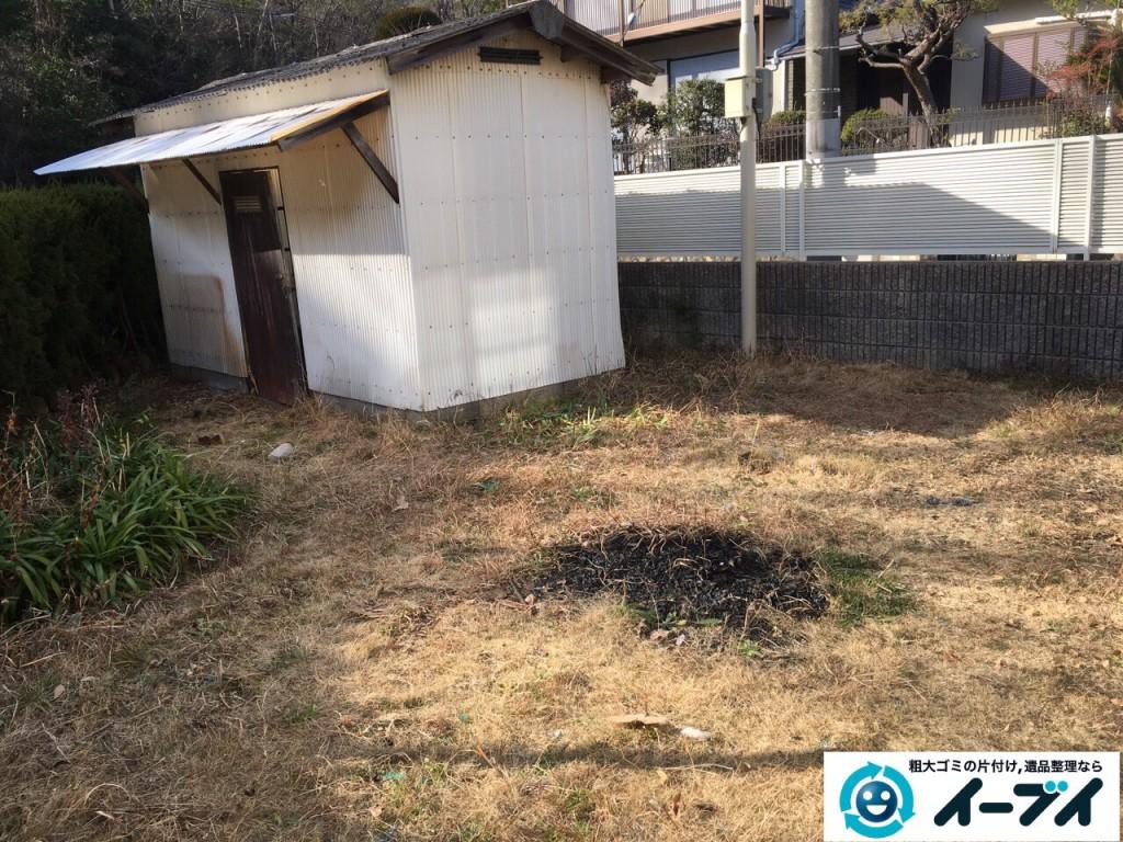 2017年2月19日大阪府松原市で庭の物置や廃品などの粗大ゴミの処分をしました。写真2