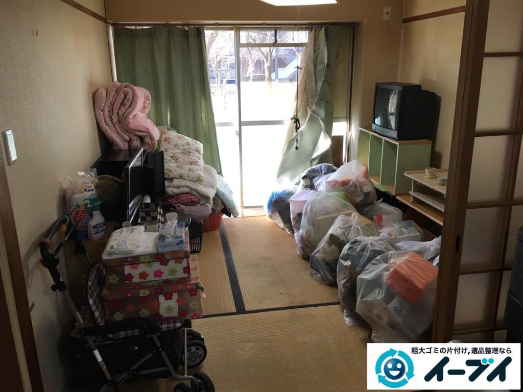 2017年2月21日大阪府守口市で遺品整理に伴い家具処分や生活ゴミの片付けをしました。写真1