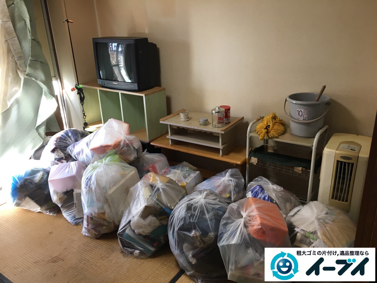 2017年2月21日大阪府守口市で遺品整理に伴い家具処分や生活ゴミの片付けをしました。写真6