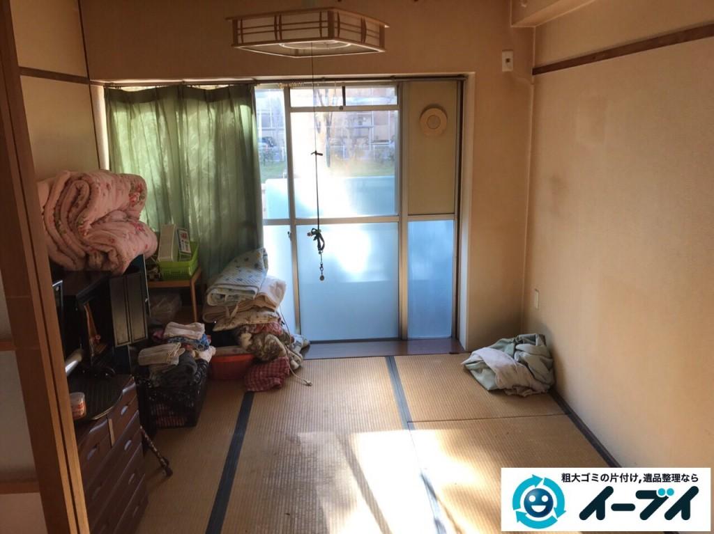 2017年2月21日大阪府守口市で遺品整理に伴い家具処分や生活ゴミの片付けをしました。写真4
