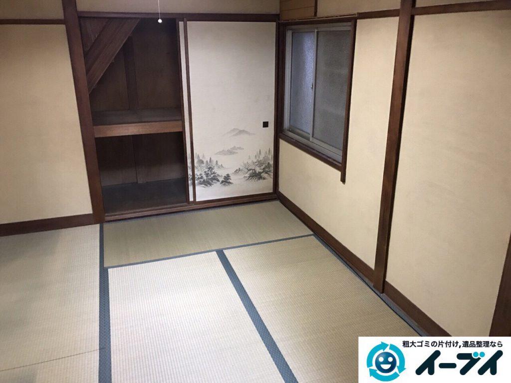 2017年3月5日大阪府茨木市で遺品整理に伴う片付け処分を行いました。写真3