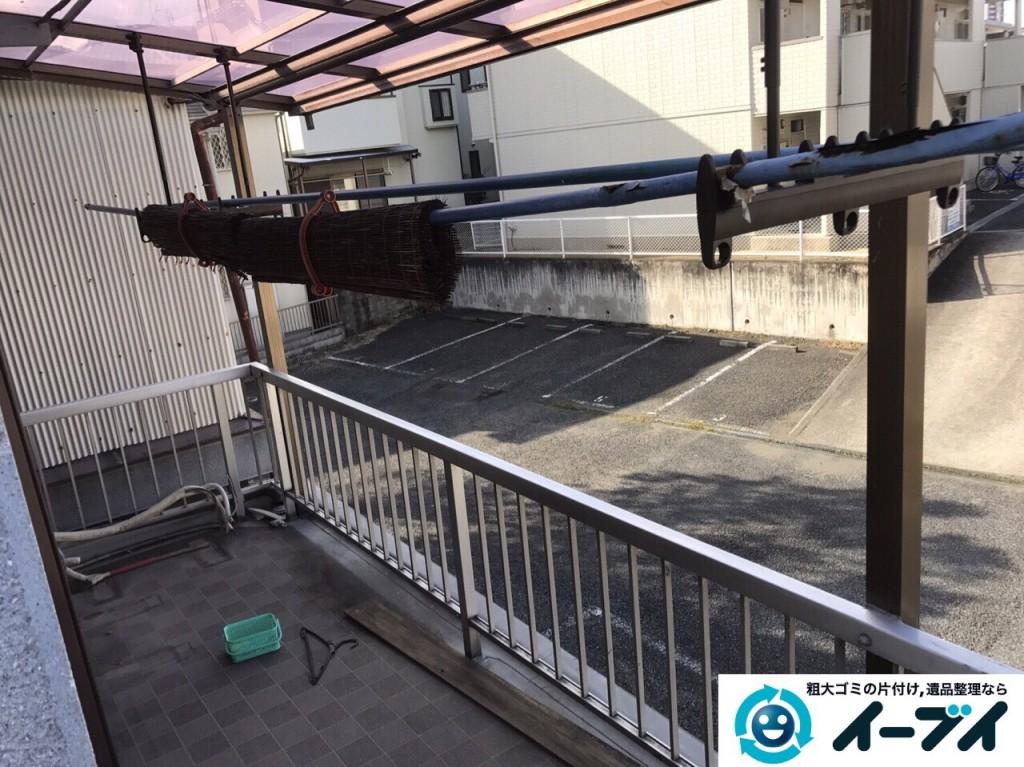 2017年2月14日大阪府貝塚市で物置きの処分や粗大ゴミの不用品回収をしました。写真4