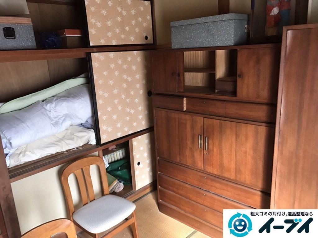 2017年2月24日大阪府堺市東区で遺品整理の依頼をいただき家具処分や生活用品を処分しました。写真3