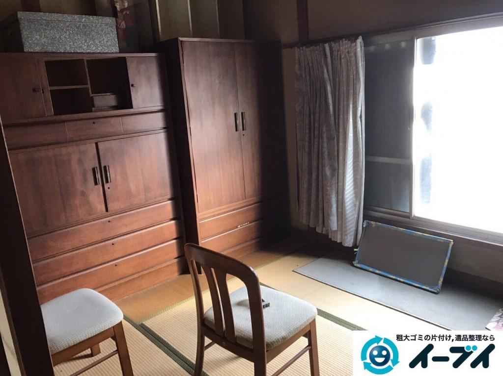 2017年2月24日大阪府堺市東区で遺品整理の依頼をいただき家具処分や生活用品を処分しました。写真2