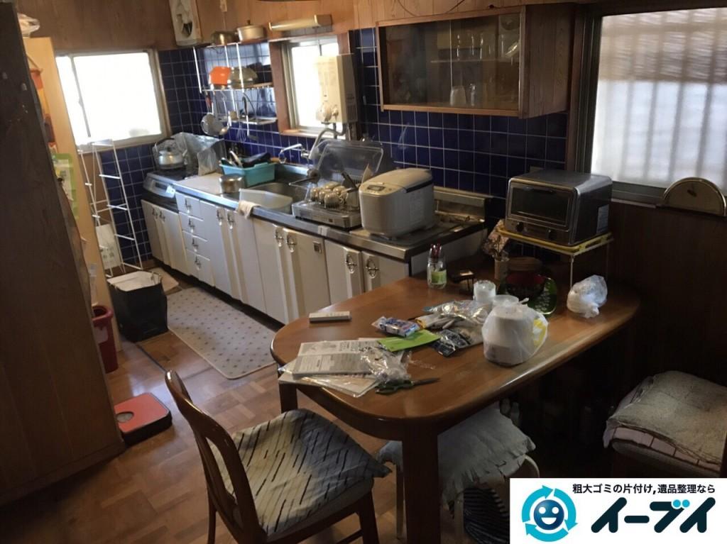 2017年2月26日大阪府大阪市東住吉区で遺品整理に伴い生活ゴミや家具処分をしました。写真2