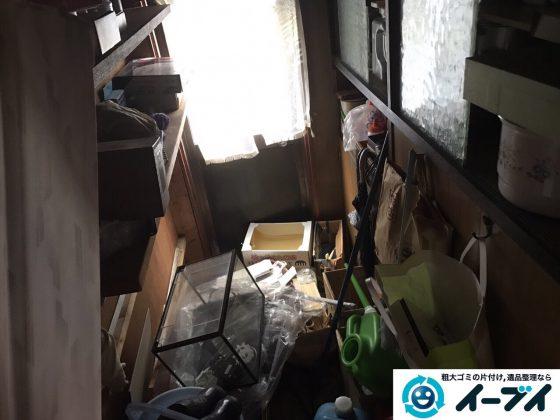 2017年3月8日大阪府河内長野市で物置きの廃品や生活ゴミの不用品回収をしました。写真1