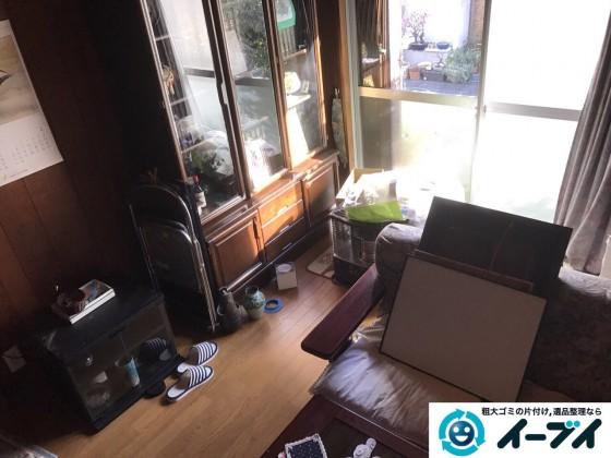 2017年2月12日大阪府大阪市天王寺区で遺品整理に伴い家具処分や生活用品の片付けをしました。写真3