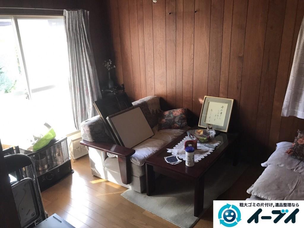 2017年2月12日大阪府大阪市天王寺区で遺品整理に伴い家具処分や生活用品の片付けをしました。写真2