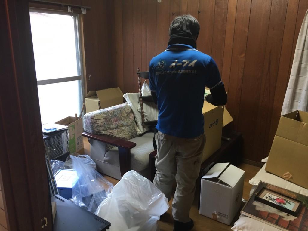 2017年2月12日大阪府大阪市天王寺区で遺品整理に伴い家具処分や生活用品の片付けをしました。写真1
