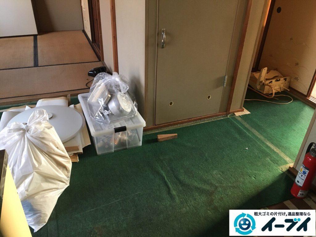 2017年3月19日大阪府大阪市東成区で遺品整理に伴い家具処分や片付けをしました。写真
