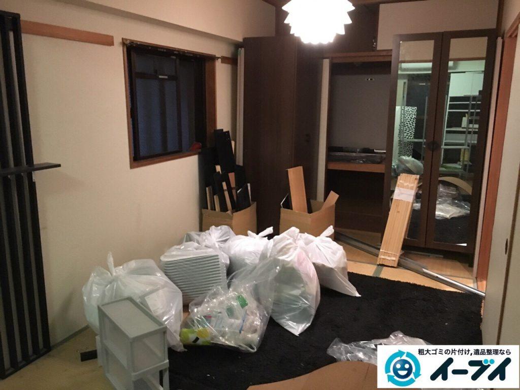 2017年3月23日大阪府大阪市福島区で家具処分や粗大ゴミの片付けで不用品回収を行いました。写真2