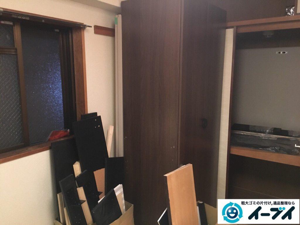 2017年3月23日大阪府大阪市福島区で家具処分や粗大ゴミの片付けで不用品回収を行いました。写真