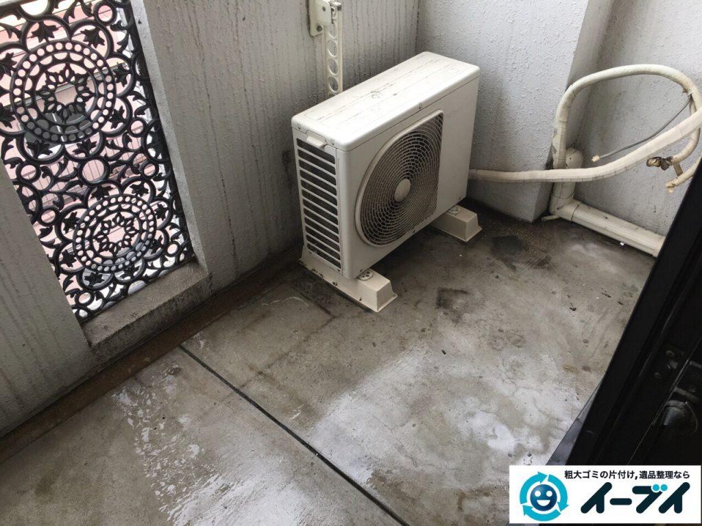 4月1日大阪府堺市西区でベランダの洗濯機や廃品の不用品回収をしました。写真3