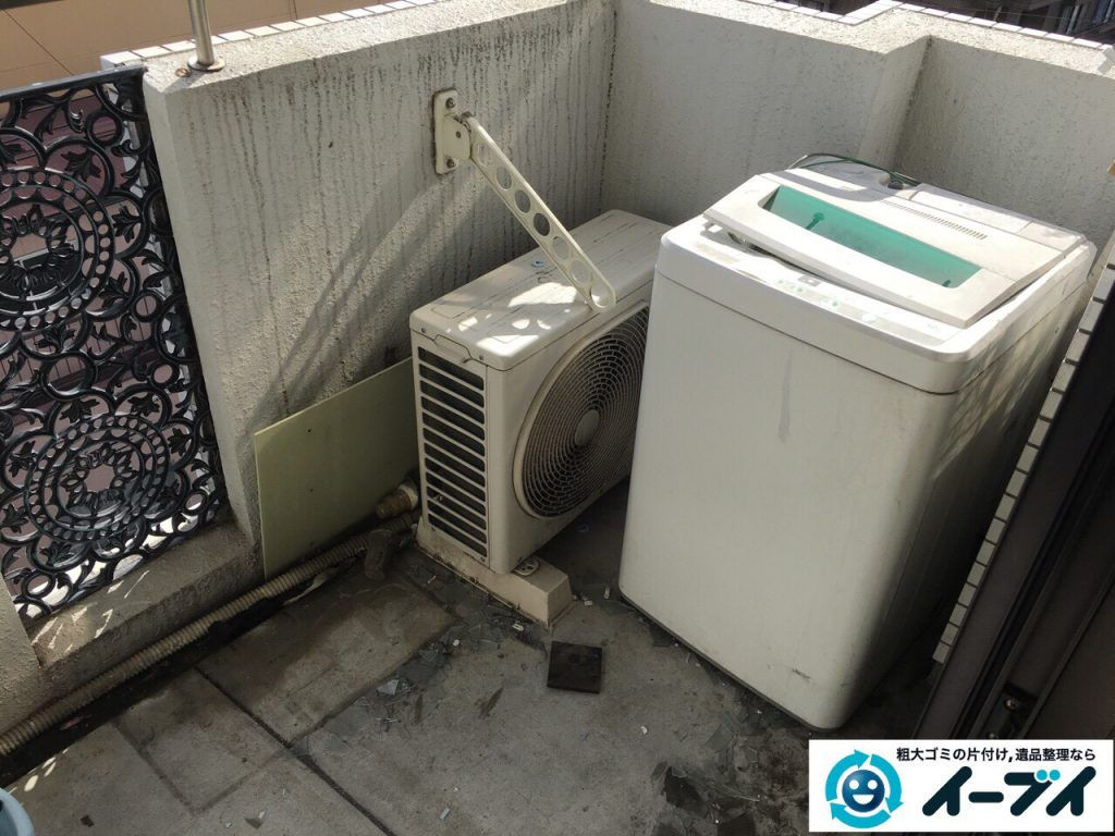 4月1日大阪府堺市西区でベランダの洗濯機や廃品の不用品回収をしました。写真2