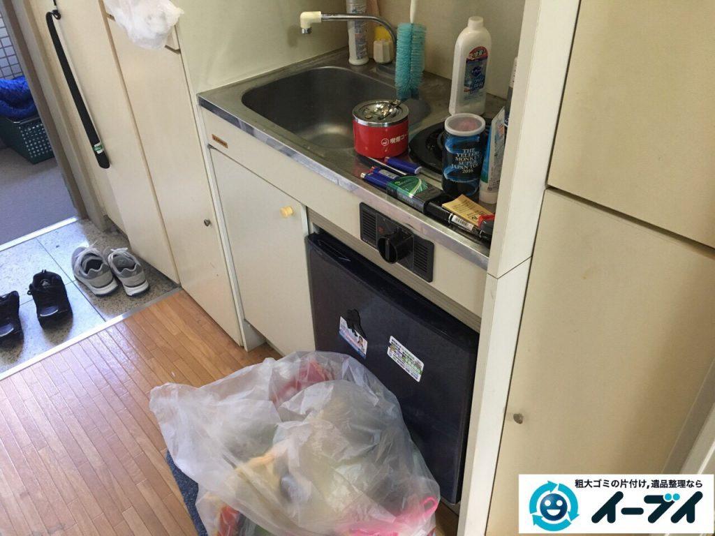 2017年3月17日大阪府大阪市中央区で引越しに伴う粗大ゴミの不用品回収とハウスクリーニングをしました。写真3