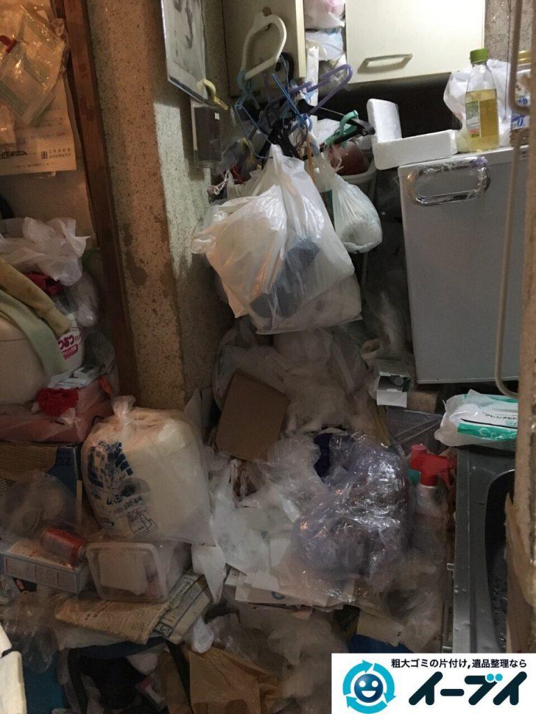 2017年3月26日大阪府大阪市淀川区でゴミ屋敷の生活ゴミや雑ゴミの片付けをしました。写真5