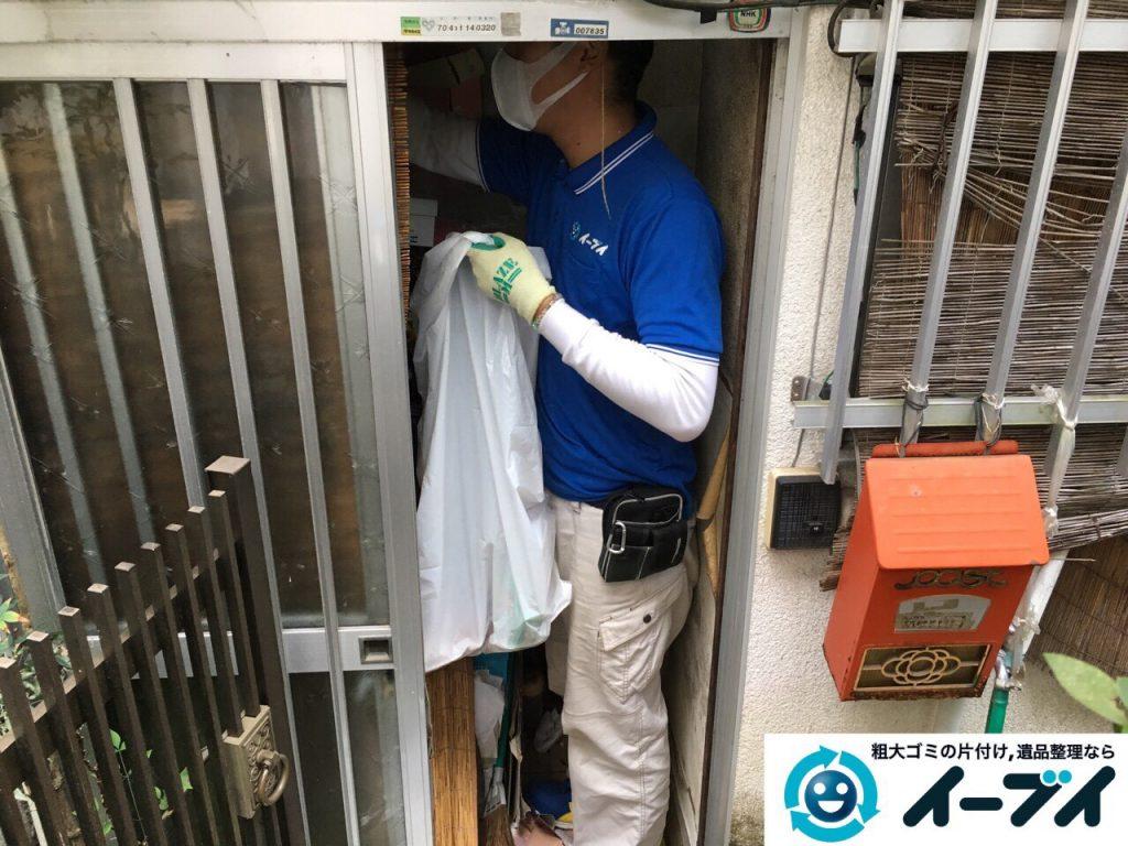 2017年3月26日大阪府大阪市淀川区でゴミ屋敷の生活ゴミや雑ゴミの片付けをしました。写真2