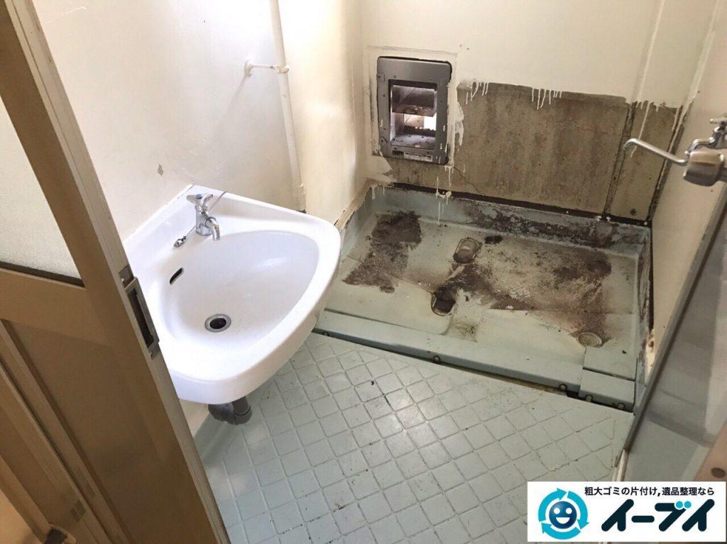 2017年3月16日大阪府大阪市住吉区で風呂釜と給湯器の取り外し不用品回収しました。写真1