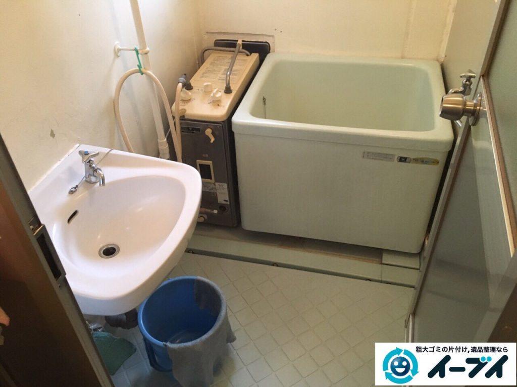 2017年3月16日大阪府大阪市住吉区で風呂釜と給湯器の取り外し不用品回収しました。写真2