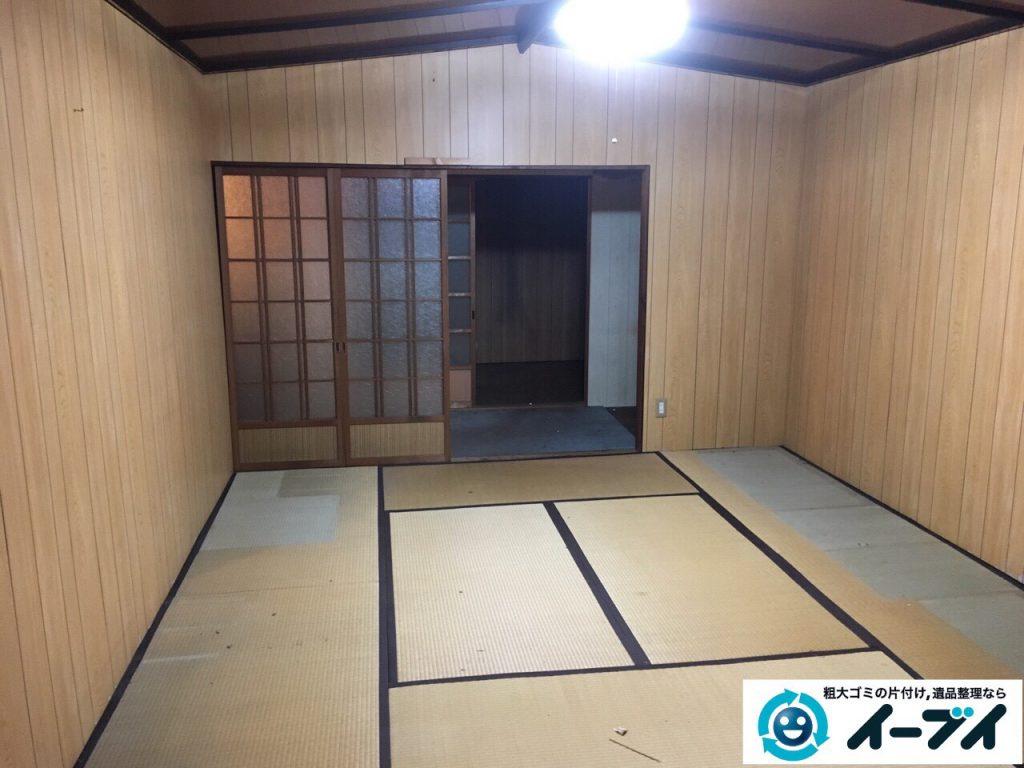 2017年3月11日大阪府大阪市旭区で遺品整理に伴い家具や生活ゴミの片付けをしました。写真4