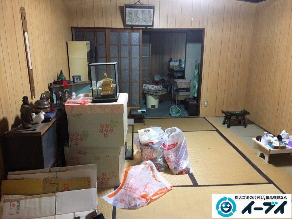 2017年3月11日大阪府大阪市旭区で遺品整理に伴い家具や生活ゴミの片付けをしました。写真3