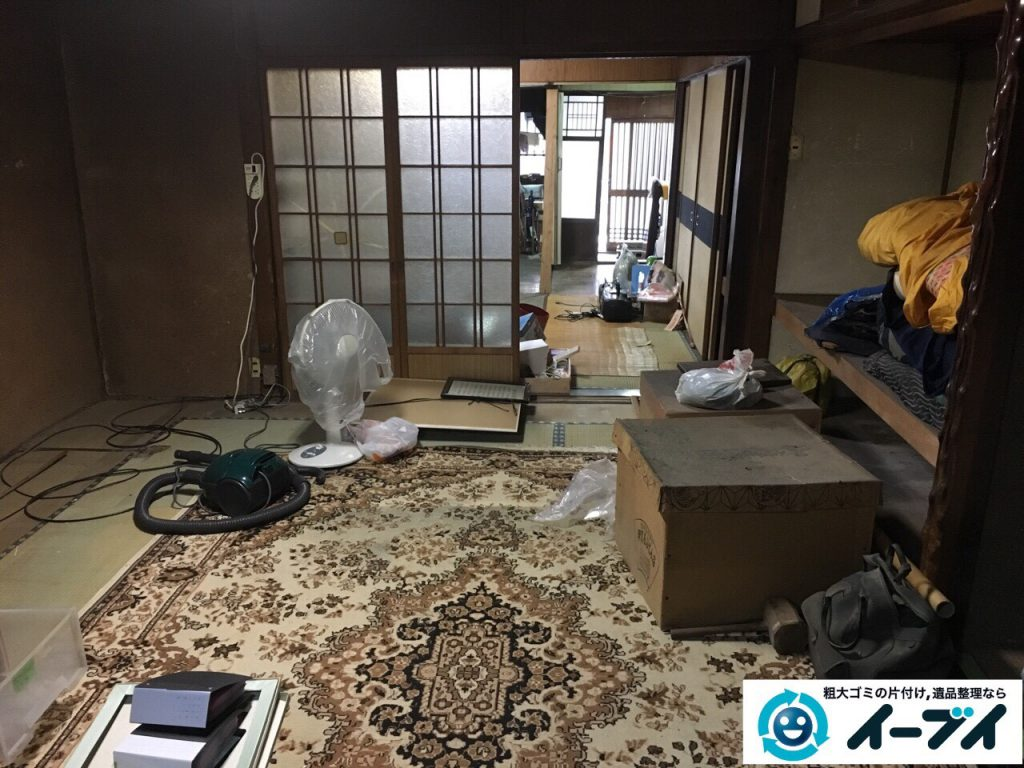 2017年3月29日大阪府交野市で遺品整理に伴う家具処分や生活用品の片付け作業。写真6