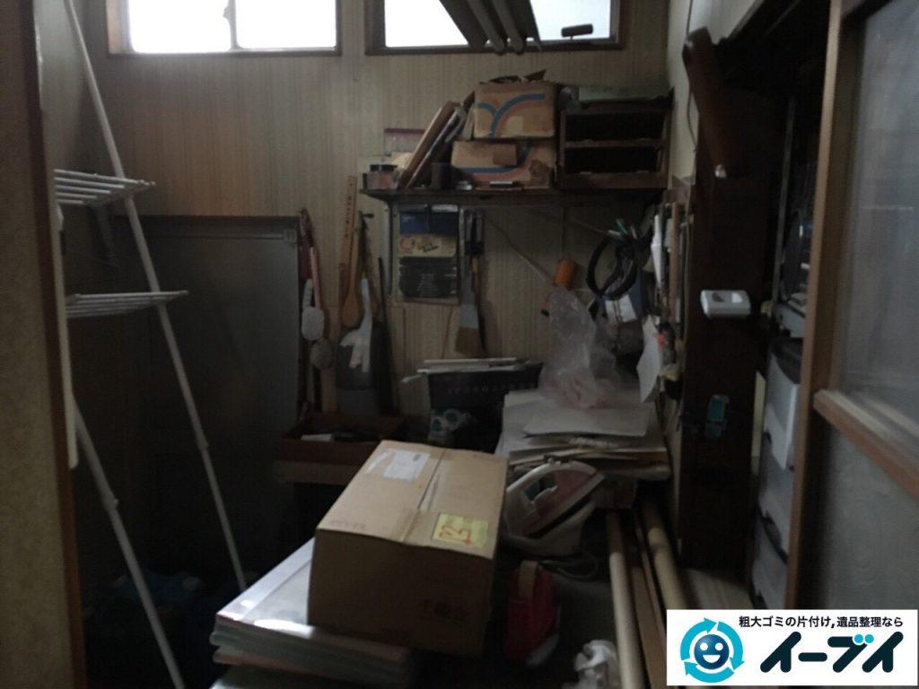 2017年3月13日大阪府大阪市港区でスチールラックや足踏みミシンなどの不用品回収をしました。写真1