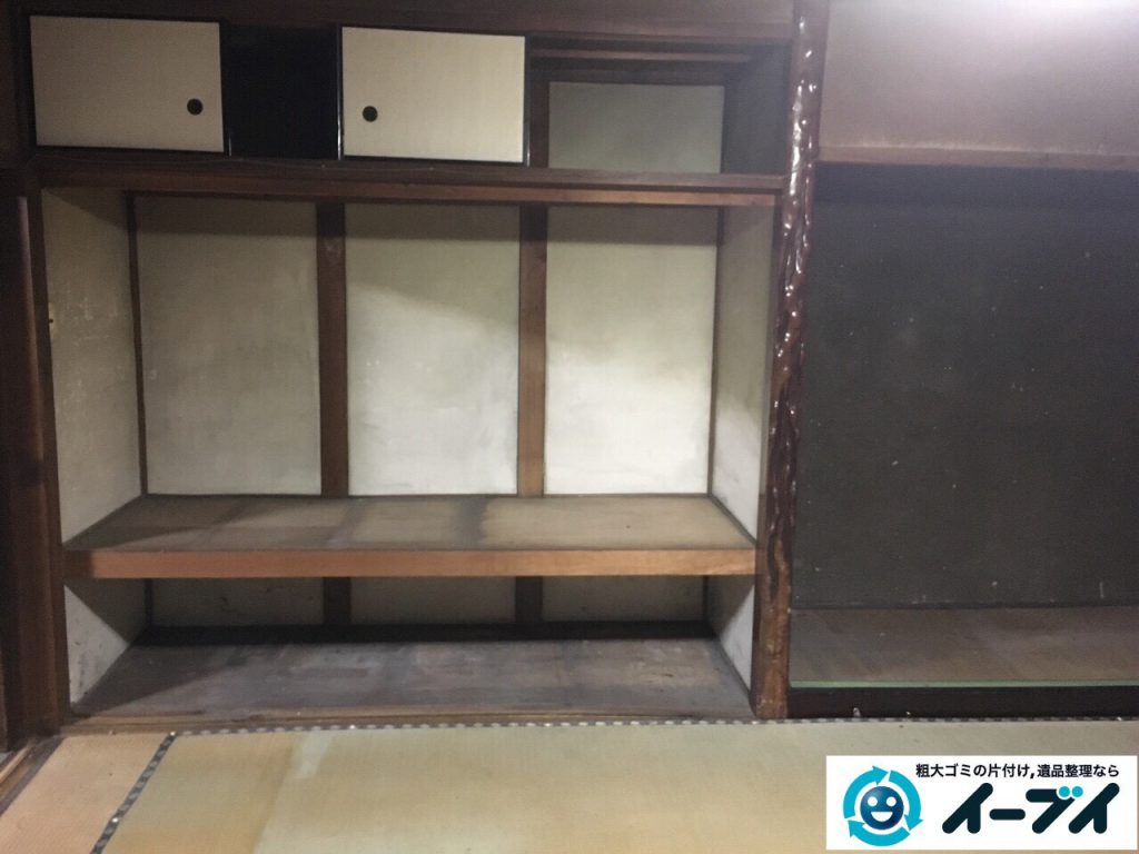 2017年3月29日大阪府交野市で遺品整理に伴う家具処分や生活用品の片付け作業。写真5