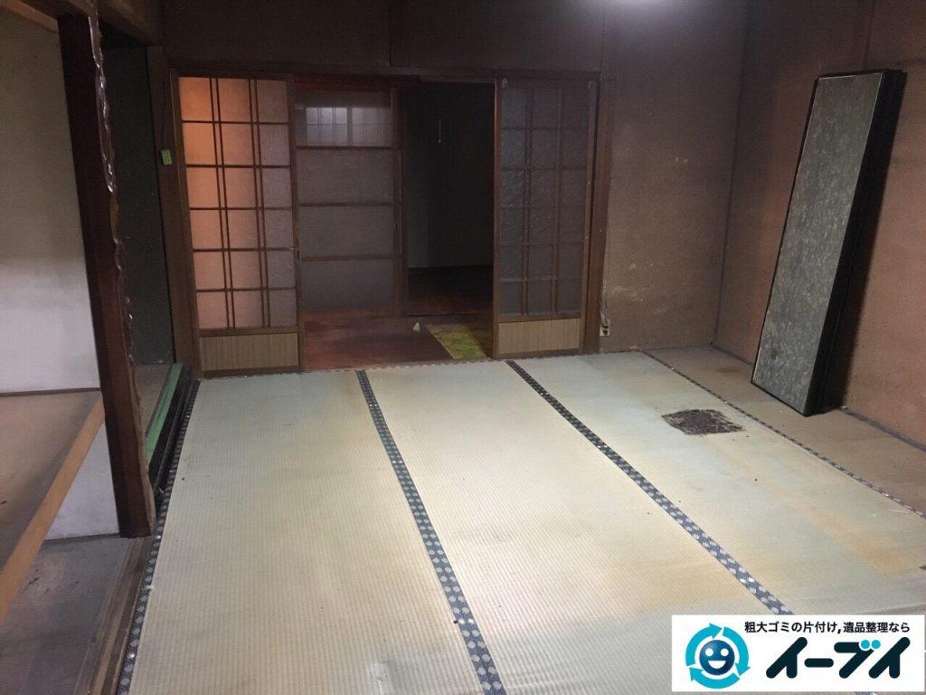 2017年3月29日大阪府交野市で遺品整理に伴う家具処分や生活用品の片付け作業。写真3