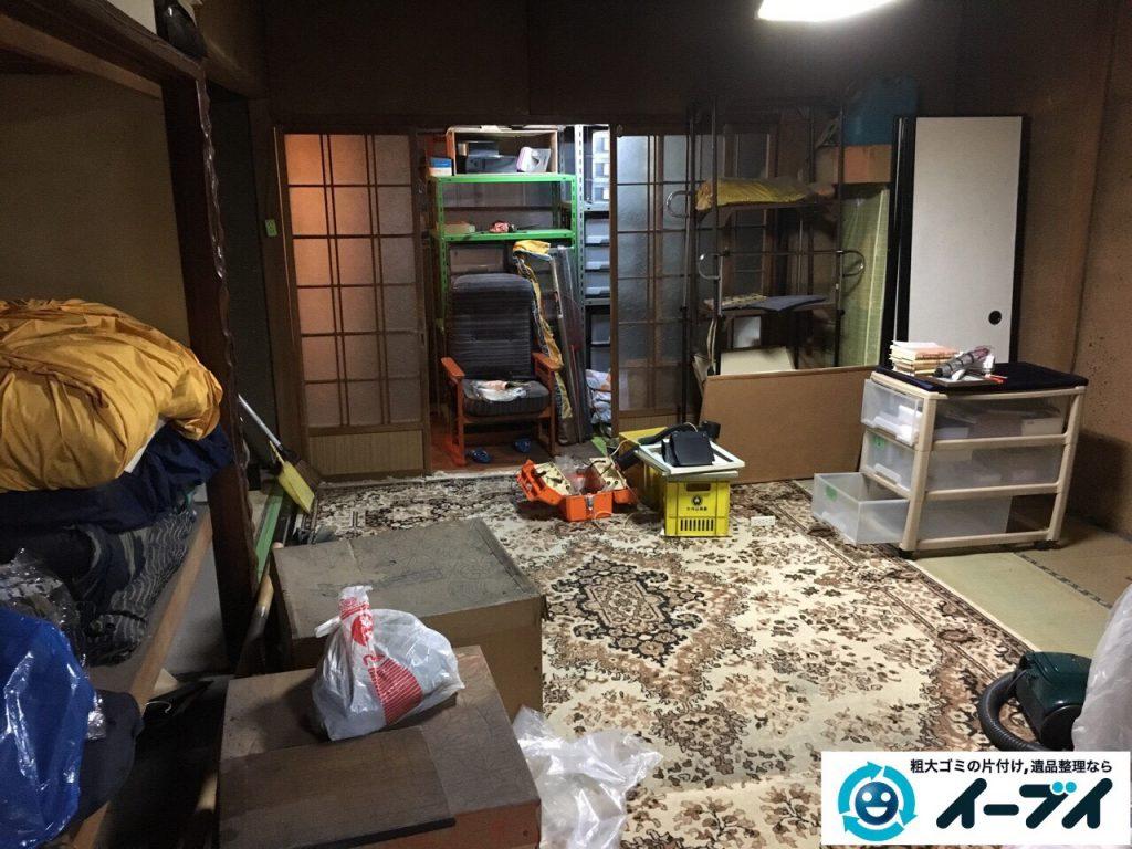2017年3月29日大阪府交野市で遺品整理に伴う家具処分や生活用品の片付け作業。写真2