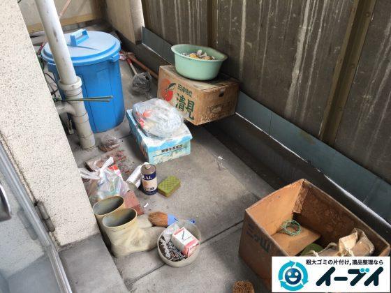 2017年4月9日大阪府豊中市でベランダの廃品や粗大ゴミの不用品回収をしました。写真5