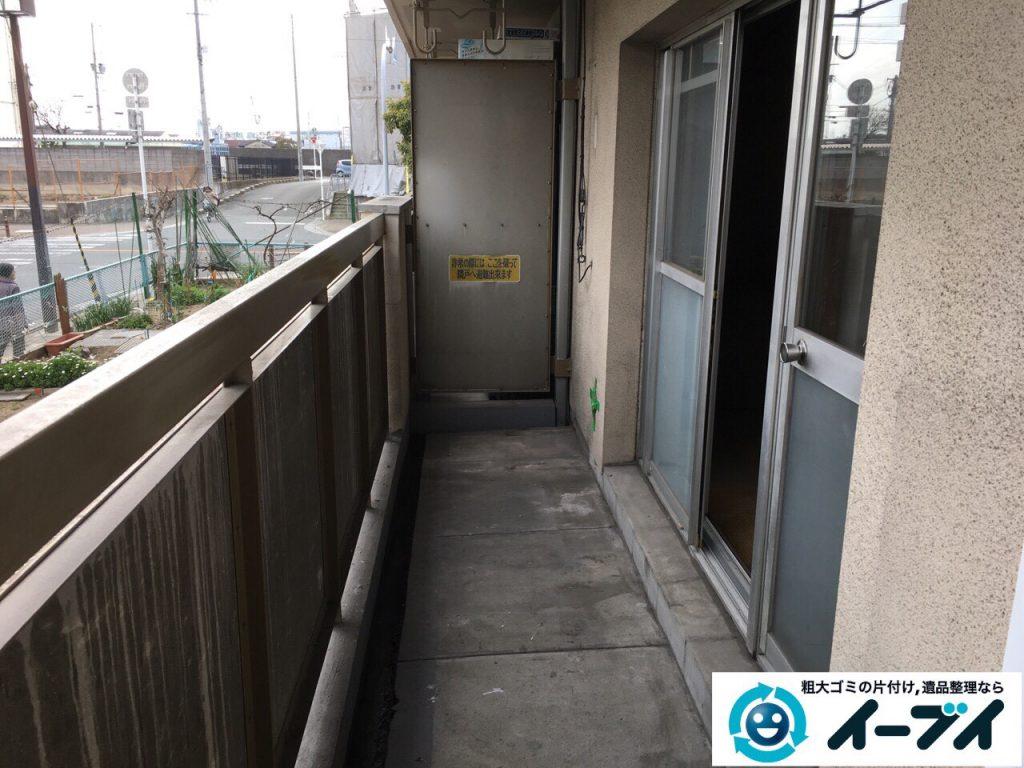 2017年4月9日大阪府豊中市でベランダの廃品や粗大ゴミの不用品回収をしました。写真4