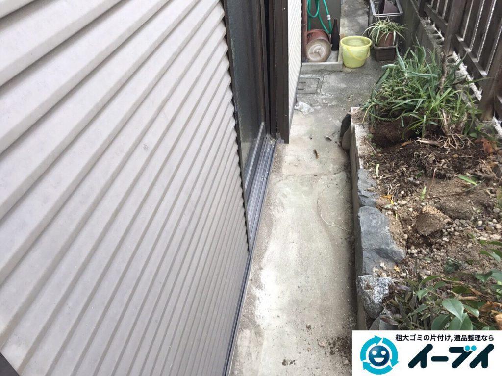 2017年3月20日大阪府大阪市東淀川区で庭の植木や廃品を片付け不用品回収をしました。写真11