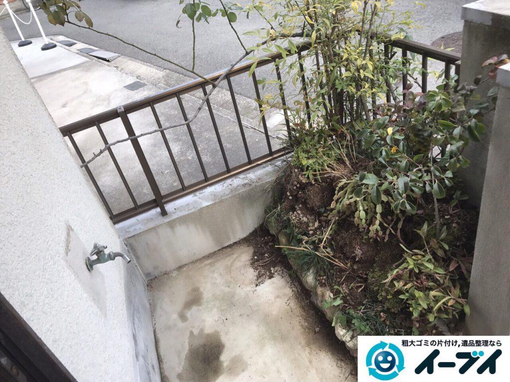2017年3月20日大阪府大阪市東淀川区で庭の植木や廃品を片付け不用品回収をしました。写真8